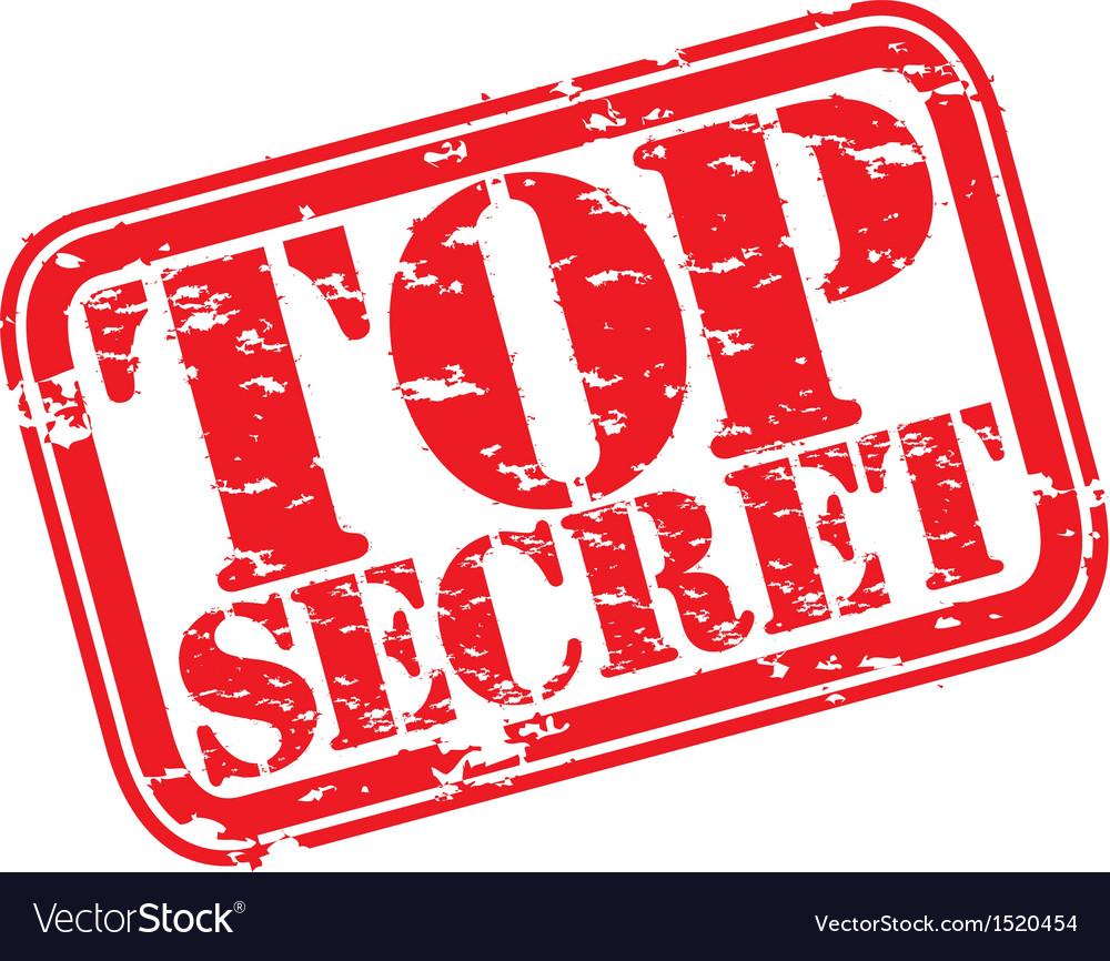 Top Secret Stamp Vector 1520454